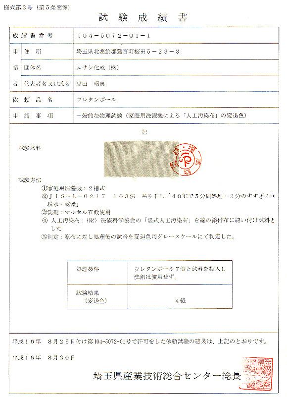 試験成績書104-5072-01-1